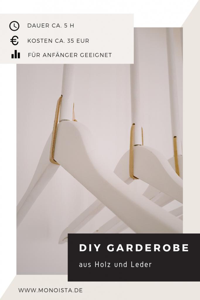 DIY Garderobe aus Holz und Leder 683x1024 - DIY Garderobe aus Holz selber bauen
