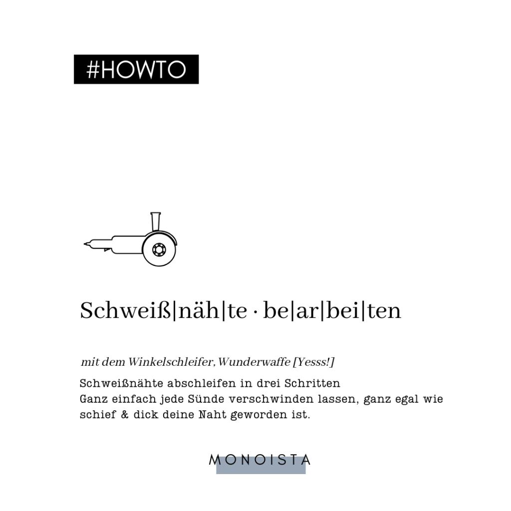 Monoista DIY Werkstatt Blog schweissnaehte abschleifen 1024x1024 - Schweißnähte abschleifen mit dem Winkelschleifer