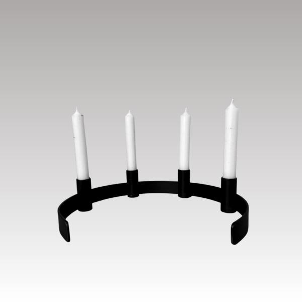 2 8 - Kerzenständer RADO in schwarz