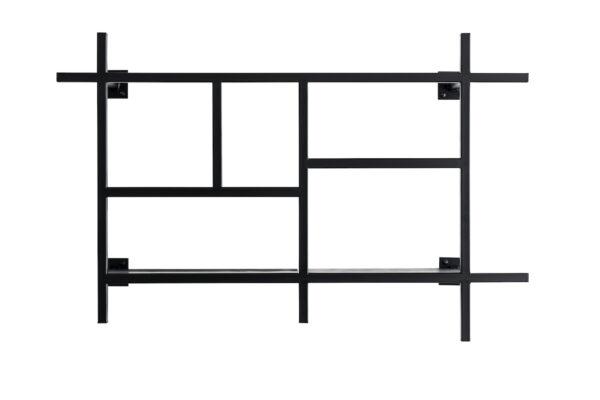 KOBO Minimalistisches Metallregal schwarz Freisteller