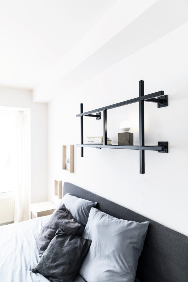 Monoista KOBO minimalistisches Metallregal schwarz klein 3 600x900 - KOBO minimalistisches Metallregal schwarz
