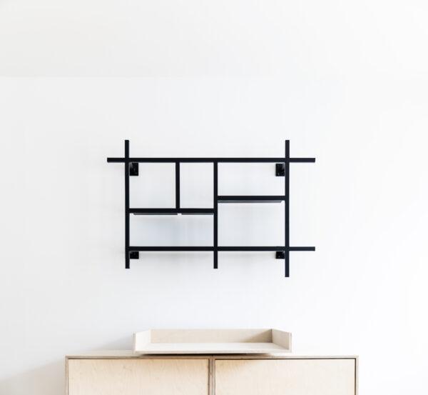 KOBO minimalistisches Metallregal schwarz